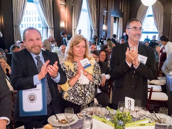Dan Mogin, Managing Partner, receives the Sylvia Siegel Award at the 45th Annual TURN Gala in San Francisco, CA