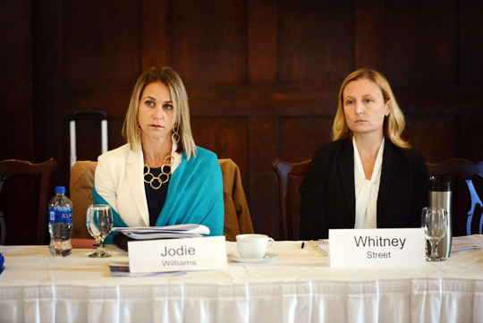 Jodie Williams and Wendy Street at the Complex Litigation E-Discovery Forum in Minnesota