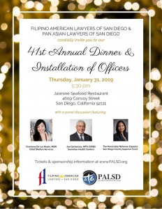 41st Annual PALSD/FALSD Dinner