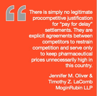 There is simply no legitimate procompetitive justification for pay-for-delay settlements.